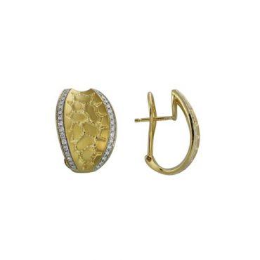 Diamond and Gold Earrings ER1007