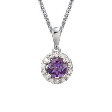 Diamond and Amethyst Pendant P1044