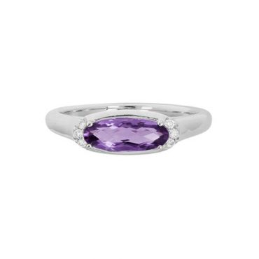 Diamond and Amethyst Ring R1012