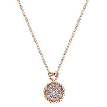 Diamond and Gold Pendant P1036
