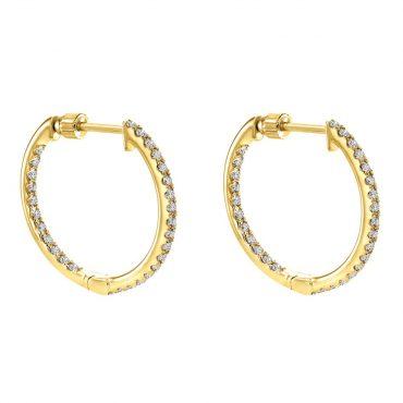 Diamond and Gold Hoop Earrings ER1022