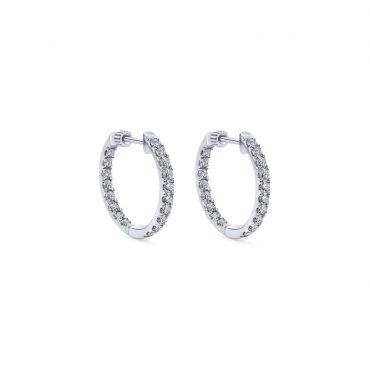Diamond and Gold Hoop Earrings ER1023