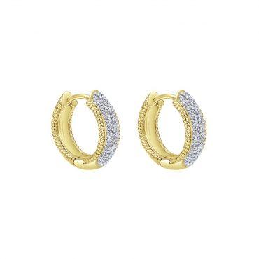 Diamond and Gold Huggie Earrings ER1026
