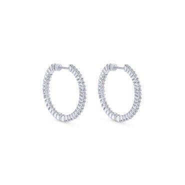 Diamond Hoop Earrings ER1019