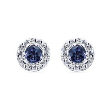 Diamond and Sapphire Earrings ER1020