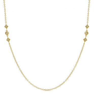 Diamond and Gold Necklace P1053