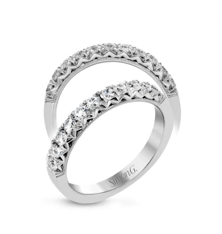 Diamond and Gold Wedding Band WR1049