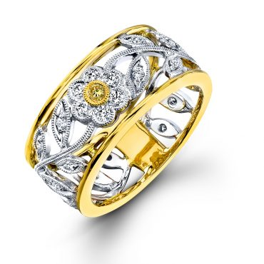 Diamond and Gold Ring R1135