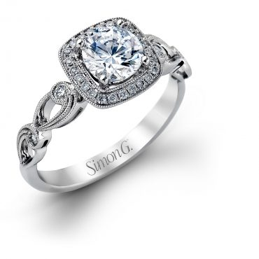 Diamond and Gold Engagement Ring E1324