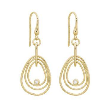 Diamond and Gold Earrings ER1060