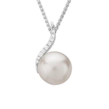Diamond and Fresh Water Pearl Pendant P1081