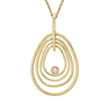 Diamond and Gold Pendant P1083