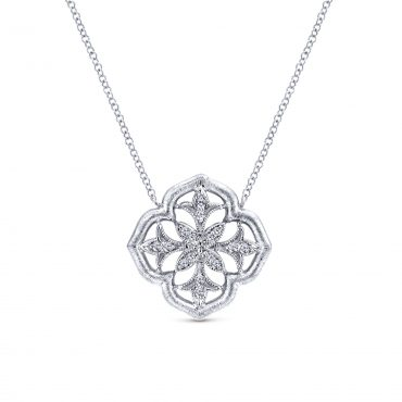 Diamond and Sterling Silver Pendant SS1069