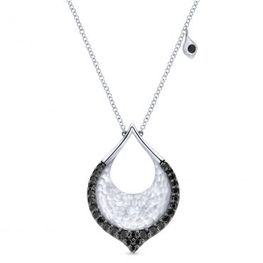 Black Spinel and Sterling Silver Pendant SS1075