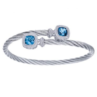 Blue Topaz and Sterling Silver Bracelet SS1086