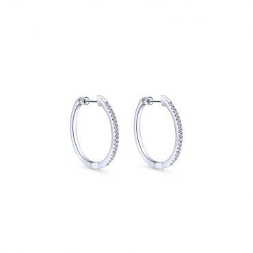 Diamond and Gold Hoop Earrings ER1072