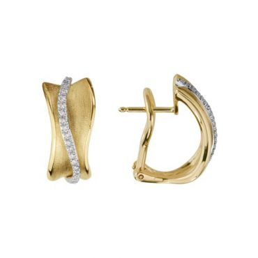 Gold and Diamond Earrings ER1009