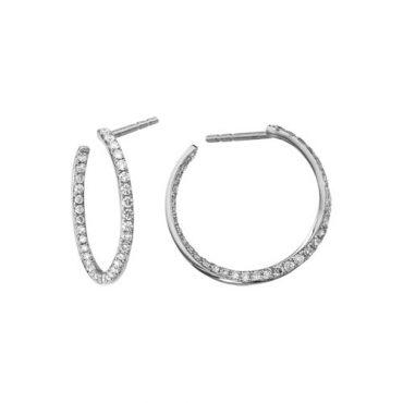 Diamond Hoop Earrings ER1013