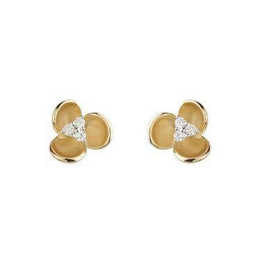 Gold and Diamond Earrings ER1015