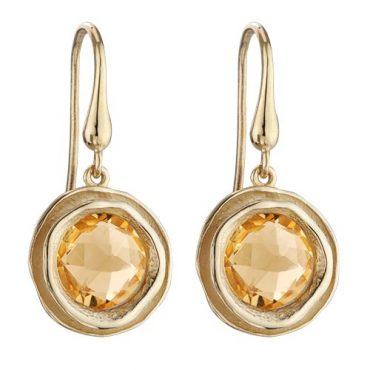 Gold and Citrine Earrings ER1016