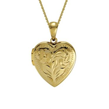 Gold Heart Locket P1003