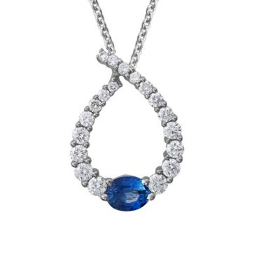 Diamond and Sapphire Pendant P1017