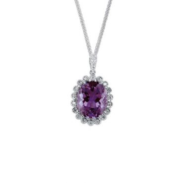 Amethyst and Diamond Pendant P1041