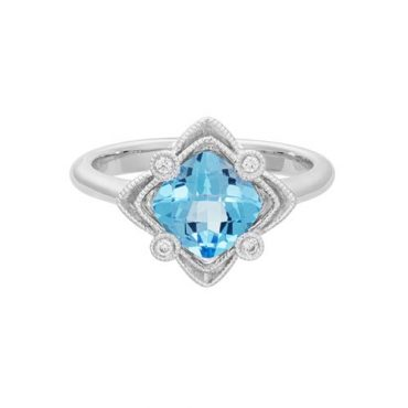 Diamond and Blue Topaz Ring R1011