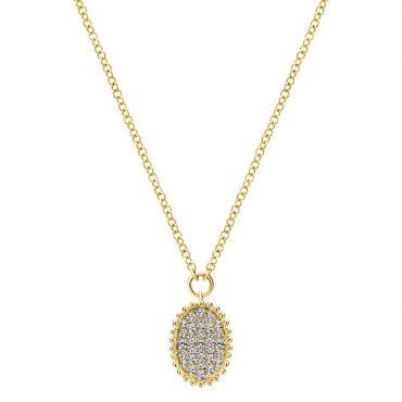 Gold and Diamond Pendant P1033