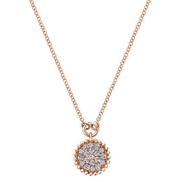 Diamond and Gold Pendant P1036