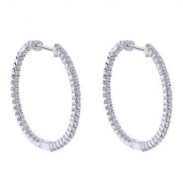 Diamond and Gold Hoop Earrings ER1024