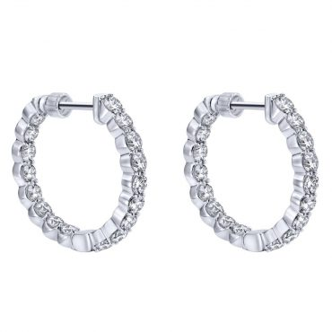 Diamond and Gold Hoop Earrings ER1025