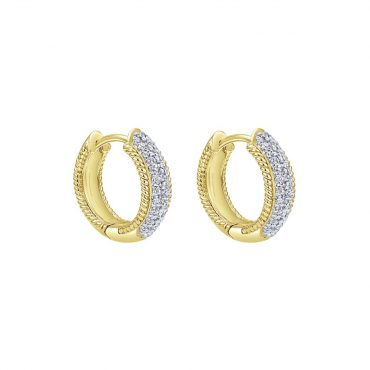 Diamond and Gold Huggie Earrings ER1026
