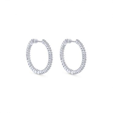 Diamond Hoop Earrings ER1019