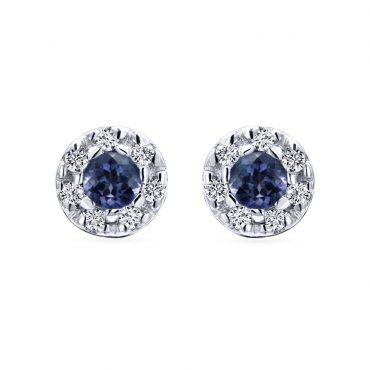 Diamond and Sapphire Earrings ER1020