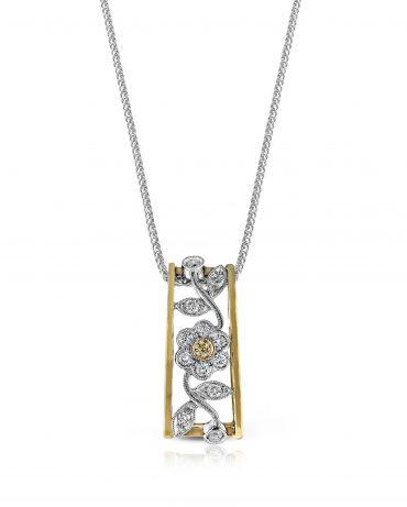 Gold and Diamond Pendant P1057