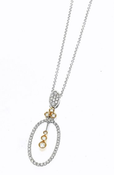 Gold and Diamond Pendant P1067