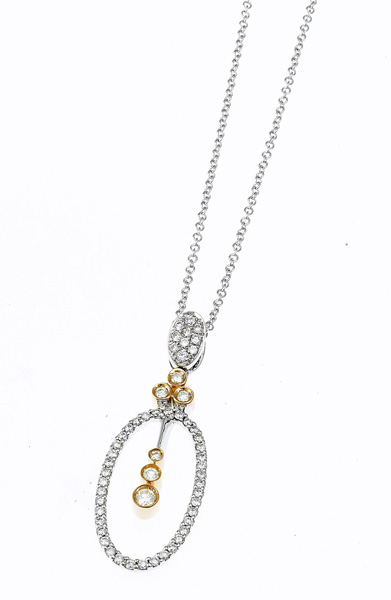 Gold and Diamond Pendant P1067