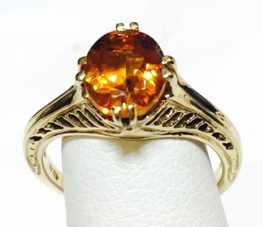 Citrine and Gold Ring R1084