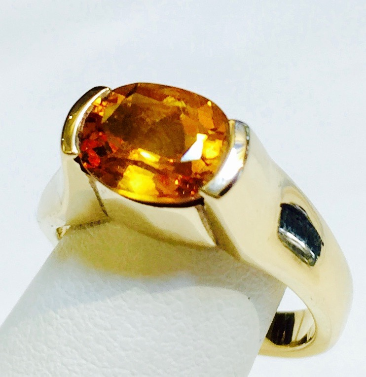 Citrine and Gold Ring R1076
