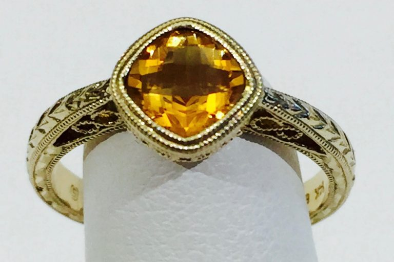 Citrine and Gold Ring R1081