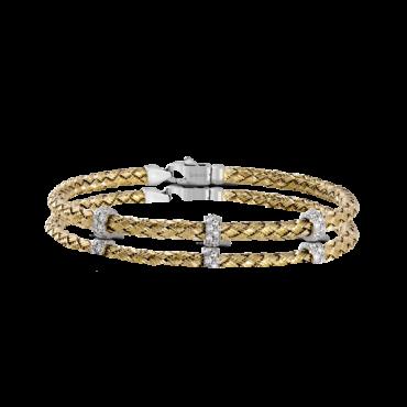 Diamond and Gold Bangle Bracelet B1003