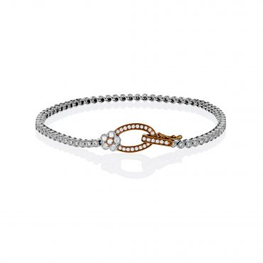 Diamond and Gold Bracelet B1001