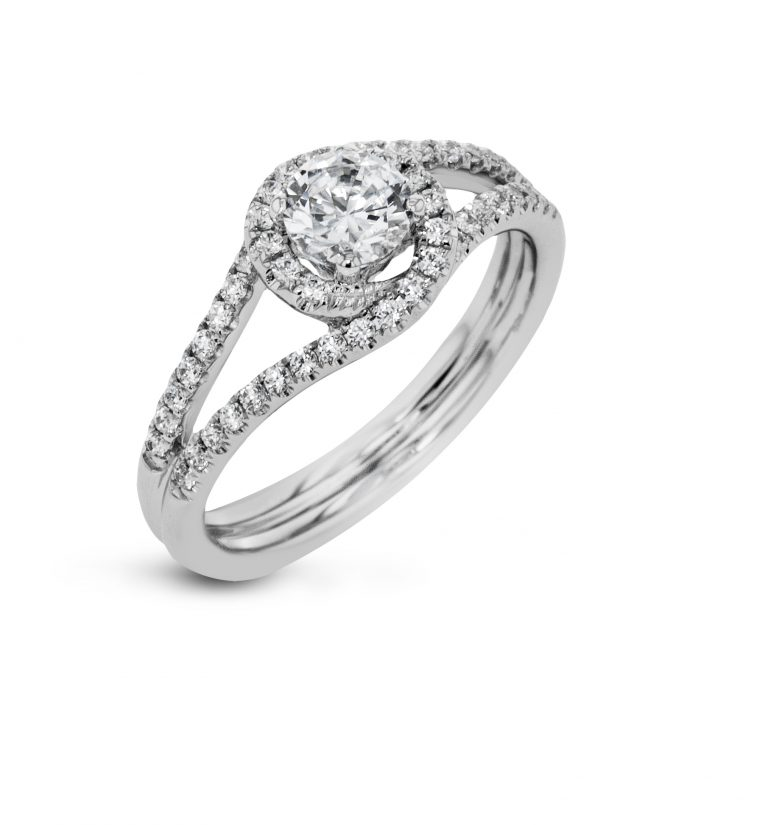 Diamond and Gold Engagement Ring E1323