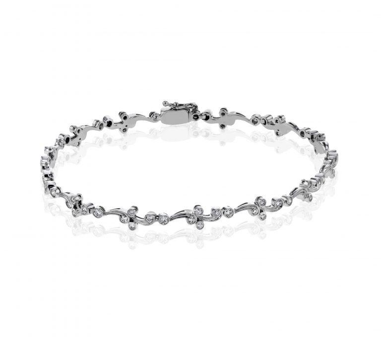 Diamond and Gold Bracelet B1002