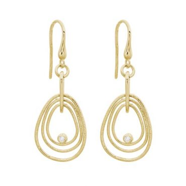 Diamond and Gold Earrings ER1060