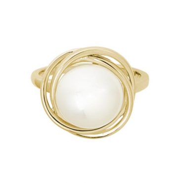 Pearl and Gold Ring R1137