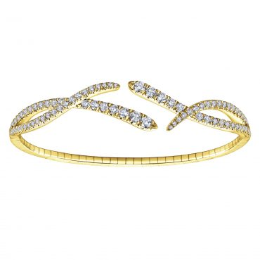 Diamond and Gold Bracelet B1006