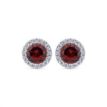 Diamond, Ruby and Gold Earrings ER1066
