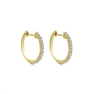 Diamond and Gold Hoop Earrings ER1067